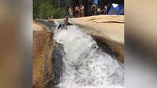 Adam's Adventures: Gigantic Natural Water slide and cliff jumping in the Sequoias! - Video