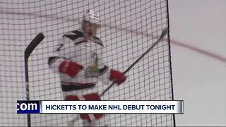 Joe Hicketts set to make NHL debut with Red Wings - Video