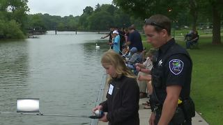 Appleton Police Department holds fishing event - Video