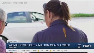 Woman gives out two million meals to those in need in Tampa