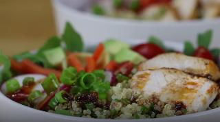 Chipotle Chicken Bowls with Cilantro-Lime Quinoa - Video