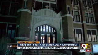 Elder alums 'embarrassed' by racist chanting - Video