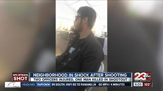 Neighbors on edge after a shooting leaving two officers injured and one dead - Video