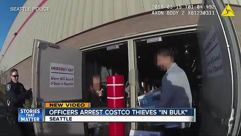 Officers arrest Costco thieves 'in bulk'