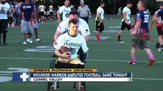Amputee Veterans will face ex-NFL players in San Diego Friday Night - Video