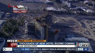 Thousands of new hotel rooms coming to Las Vegas - Video