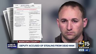 Deputy arrested, accused of stealing money from dead man