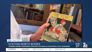 """Station North Books in Baltimore says """"We're Open Baltimore!"""""""