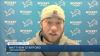 Lions QB Matthew Stafford may not practice all week, but hopes to play