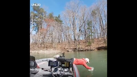 When your rod fails you, but you're determined to land the catch...
