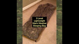 Improvised 3 Level Lightweight Sleeping Bag System