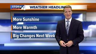 Sunshine, warmer temps Thursday - Video