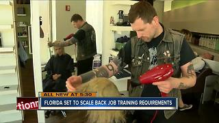 Florida set to scale back training requirements for several jobs - Video