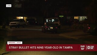 Police: 9-year-old struck by stray bullet in Tampa