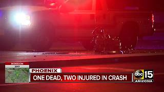 FD: 1 dead, 2 hospitalized after crash in north Phoenix - Video