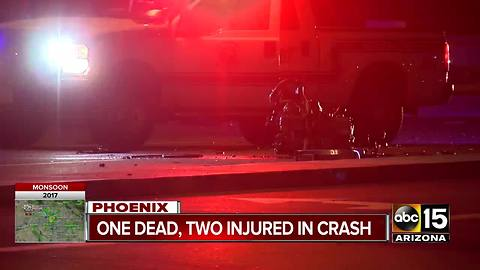 FD: 1 dead, 2 hospitalized after crash in north Phoenix