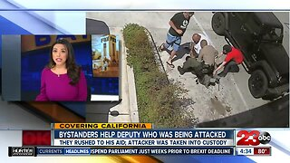 Bystanders help Los Angeles County deputy who was being attacked