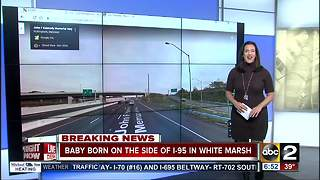 Firefighters help deliver baby on I-95 in White Marsh - Video