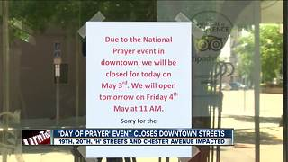 Businesses close because of downtown even - Video