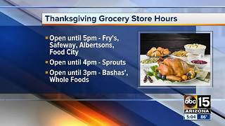 Forget something for Thanksgiving? Here are the hours - Video