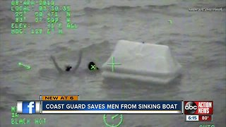 U.S. Coast Guard rescues 3 Tampa Bay area men after boat sinks near Naples