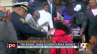 In West End and Avondale, men suit up to inspire students on first day of school - Video