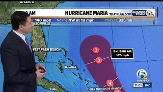 Hurricane Maria 11 a.m. Wednesday update