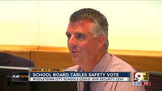 Middletown school board tables safety tax levy - Video
