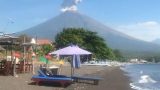 Bali's Mount Agung Erupts, Emitting a Plume of Volcanic Ash