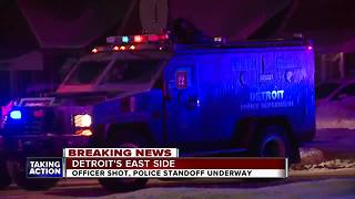 Detroit police officer shot, two women killed during ongoing barricaded gunman situation - Video