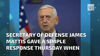 Mattis Borrows A Phrase From Reagan In Assessing The Fight Against ISIS - Video