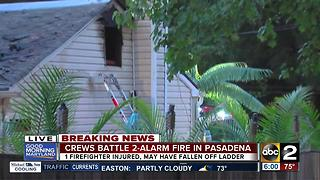 1 firefighter injured in 2-alarm fire at bar in Pasadena - Video