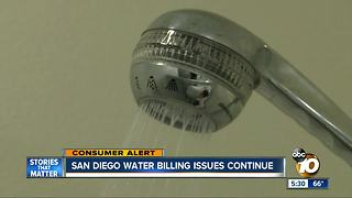 San Diego water billing issues continue - Video