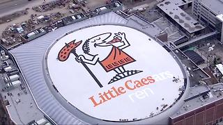 Little Caesars Arena's roof almost complete - Video