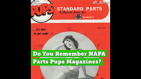 Do You Remember NAPA Parts Pups Magazines?