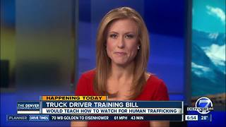 Truck driver training bill would teach drivers to watch for human trafficking - Video
