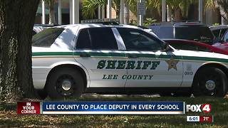 Sheriff's deputies to be present at all Lee County schools - Video
