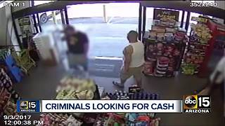 Authorities searching for suspects in Phoenix armed robberies - Video