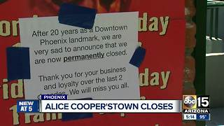 Alice Cooper'stown closes after 20 years - Video