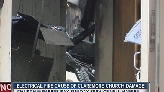 Electrical Fire Cause of Claremore Church Damage
