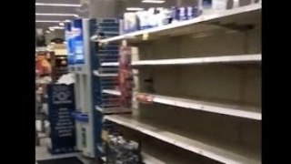 Grocery Store Shelves Emptied as Hurricane Harvey Nears US Coast