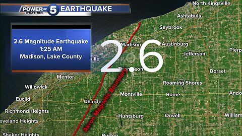 USGS confirms 2.6 earthquake happened in Madison, in Lake County