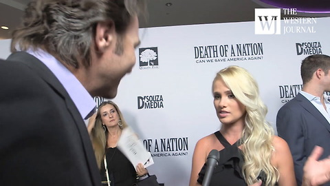 "Tomi Lahren 'Death of A Nation"" Red Carpet Interview"