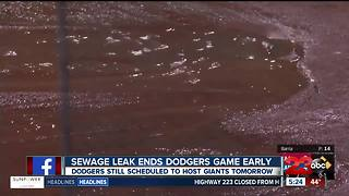 Sewage water cancels LA Dodgers game - Video