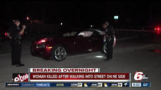 Woman hit by vehicle, dies on Indy's NE side - Video