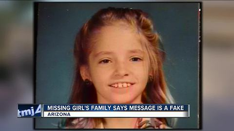 Note on dollar bill claiming to be from missing Arizona girl a hoax