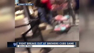 Fight breaks out at Brewers, Cubs game