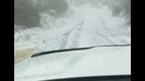 Hawaii's Maui State Park Sees Rare Dusting of Snow