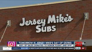 Jersey Mike's is teaming up with local organizations for Day of Giving - Video