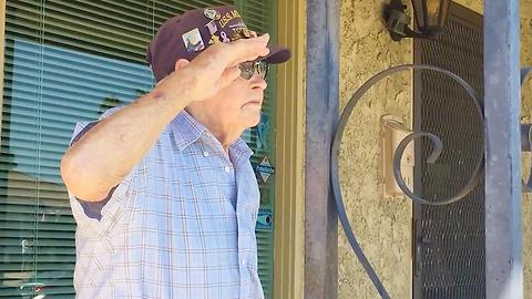 Pearl Harbor Veteran Honored On Own Front Porch